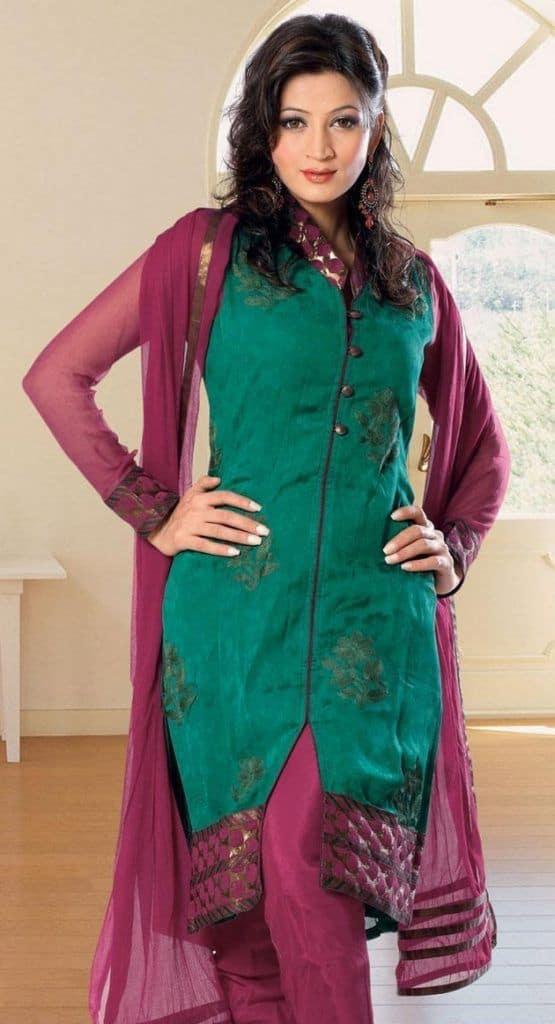 Stand Collar Neck Designs For Salwar Kameez : Collar neck patterns for salwar kameez