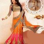 orange-designer-lehengas-designs