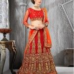 red lehenga designs