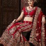 wedding lehenga choli red
