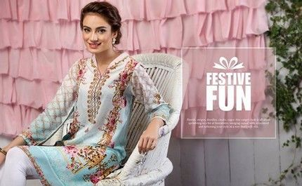 New Nisha Eid Dresses 2016 by Nishat Linen