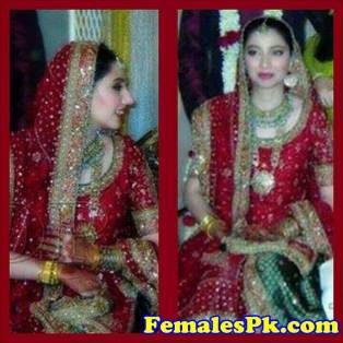 Mahira Khan Bridal Makeup Dress